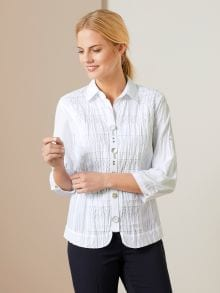 Stickerei Bluse Summer White