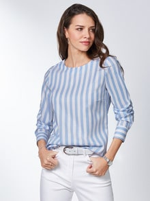 Extraglatt Pima-Cotton Shirtbluse