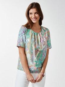 Shirtbluse Sommerpaisley