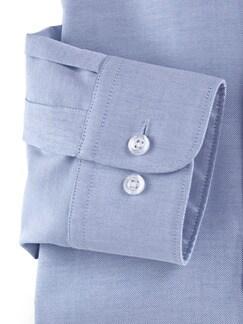 Extraglatt-Hemd Oxford Blau Detail 4