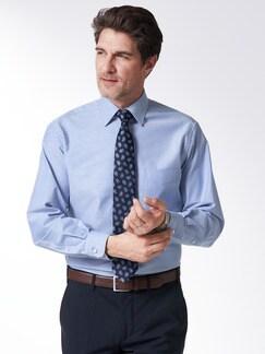 Extraglatt-Hemd Oxford Blau Detail 2