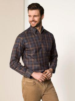 Extraglatt-Freizeithemd Marone
