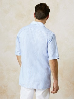 Kurzarm-Shirt Riviera Hellblau/Weiß Detail 3