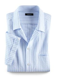 Kurzarm-Shirt Riviera Hellblau/Weiß Detail 1