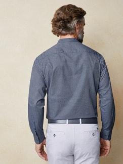 Stehkragen Ahoi-Shirt Blau/Weiß Detail 3