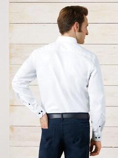 Softcotton-Hemd Weiß Detail 4