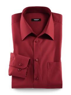 Extraglatt-Hemd Walbusch-Kragen Rot Detail 1