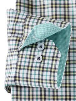 Sommerhemd Miramar Karo Blau/Gelb Detail 4