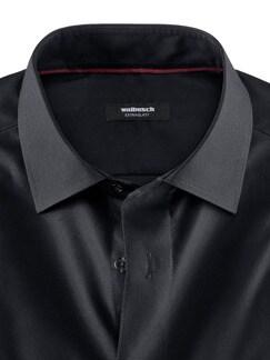 Extraglatt-Hemd Black & White Schwarz Detail 4