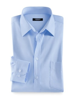 Business-Hemd Naturstretch Hellblau Detail 1