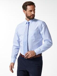 Extraglatt-Hemd Walbusch-Kragen Streifen Azur Detail 2
