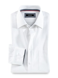 Freizeithemd Sorona Uni Weiß Detail 1