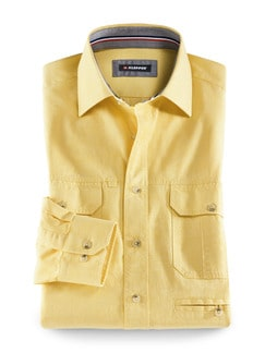 Klepper Multi-Taschenhemd Gelb Detail 1