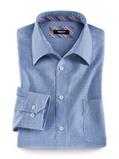 Extraglatt-Hemd Tropicana Dobby Jeansblau Detail 1