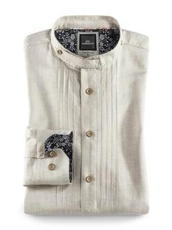 Leinen-Trachtenhemd Beige Detail 1