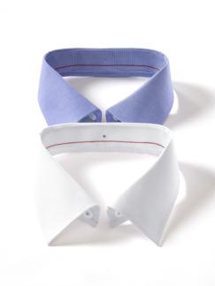 Extraglatt-Hemd Wechselkragen Weiß Detail 3