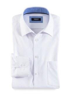 Extraglatt-Hemd Uni Weiß Detail 1