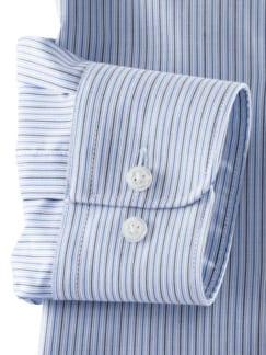 Extraglatt-Hemd Kent-Kragen Bicolor gestreift Detail 4
