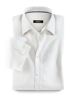 25 Grad-Leinenhemd Weiß Detail 1