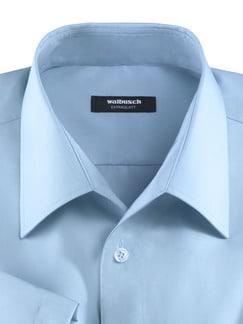Extraglatt-Hemd Walbusch-Kragen Hellblau Detail 4
