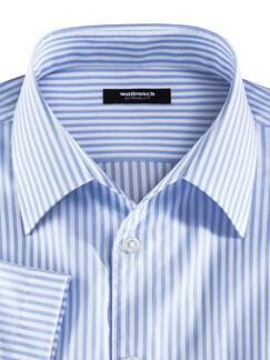 Extraglatt-Hemd Walbusch-Kragen Streifen Azur Detail 3