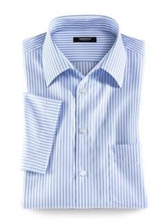 Extraglatt-Hemd Walbusch-Kragen Streifen Azur Detail 1