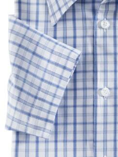 Extraglatt-Hemd Clubkaro Blau/Azur Detail 4