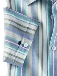Tropical-Hemd Buena Vista Streifen Aqua Detail 4