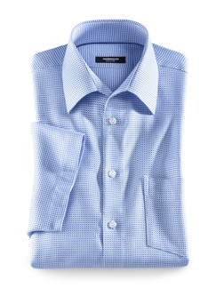Fleckschutz-Hemd Bicolor Blau Detail 1