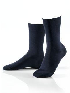 Pima-Cotton Socke 3er-Pack Marine Detail 1