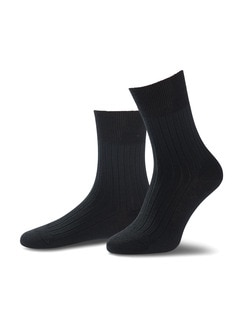 4-Seasons Socke 2er-Pack Schwarz Detail 1
