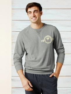 Sweater Soft Touch Grau Melange Detail 2
