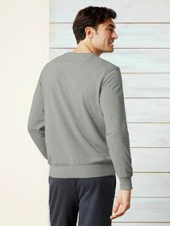 Sweater Soft Touch Grau Melange Detail 4