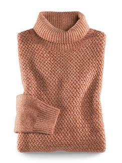 Cashmino-Pullover Beige/Terra Detail 1