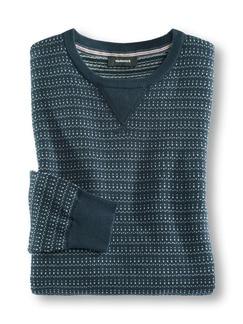 Baumwoll-Pullover Sportsline Blau Detail 1