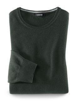 Smart Wool Pullover Dunkelgrün Detail 1