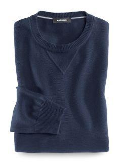 Reiskorn-Pullover Cottonblend Marine Detail 1