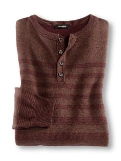 Serafino-Pullover Rot/Terra Detail 1