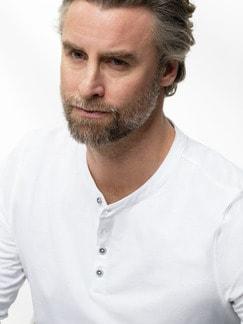 Henley-Shirt Weiß Detail 4