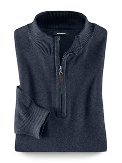 Troyer Cashmere Touch Blau Detail 1