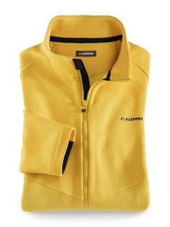 Klepper Active-Fleecejacke Gelb Detail 1