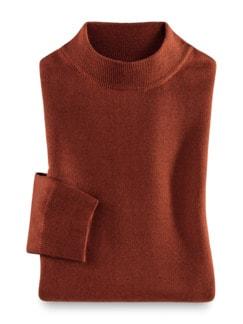 Merino-Mix Stehbund-Pullover Terra Detail 1