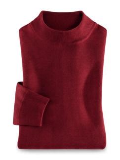 Merino-Mix Stehbund-Pullover Rot Detail 1