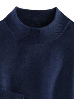 Merino-Mix Stehbund-Pullover Königsblau Detail 3