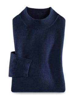 Merino-Mix Stehbund-Pullover Königsblau Detail 1