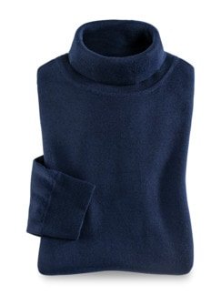 Merino-Mix Rollkragen-Pullover Königsblau Detail 1