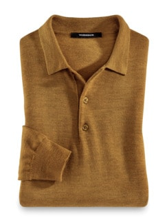 Merino-Mix Polo-Pullover Safran Detail 1