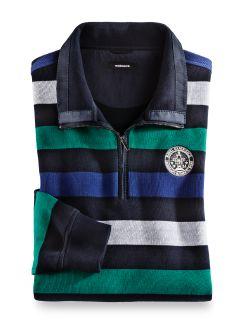 Streifen-Sweatshirt Nautica Smaragd/Navy Detail 1