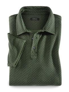 Baumwoll-Polo Krawateria Grün Detail 1