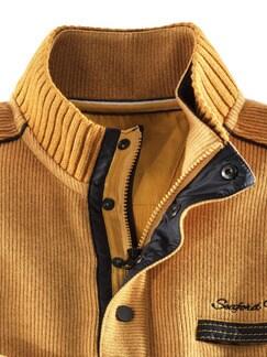 Wohlfühl-Pullover Softrib Safran Detail 4